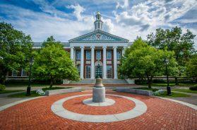 The Baker Library Harvard Business School, in Boston, Massachusetts.